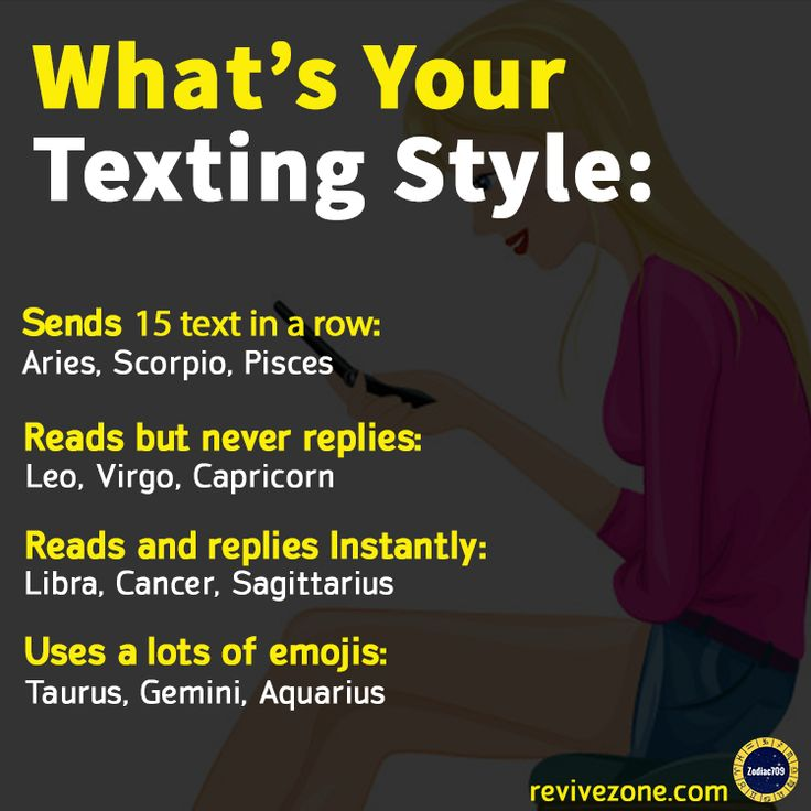 Zodiac Signs Texting Style | today's free horoscope