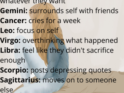 The Signs During a Breakup