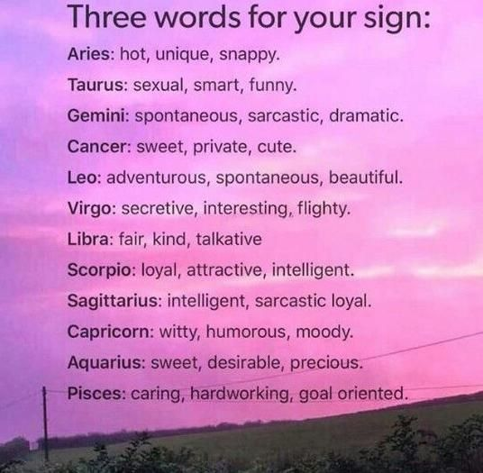 Three words for your sign